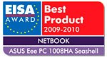 EISA Award назвало Eee PC™ 1008HA Seashell «Лучшим выбором»